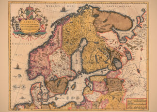 Poster showing Northern Europe 1630s