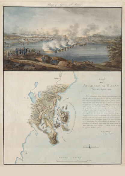 Poster showing Swedish battle at Ratan 1809