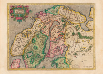 Poster showing Sweden and Norway 1630