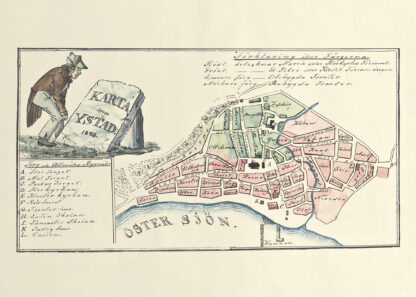 Swedish city Ystad 1848