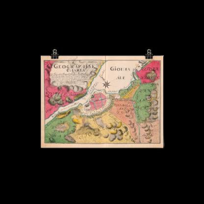 Map showing Gothenburg 1766