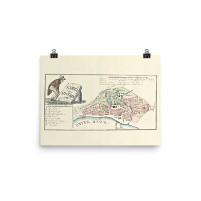 Swedish city Ystad 1848