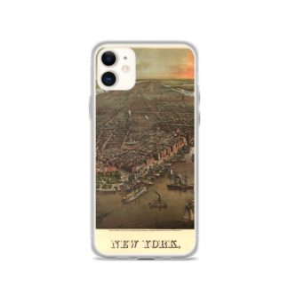 iPhone Case with 1870s view over New York