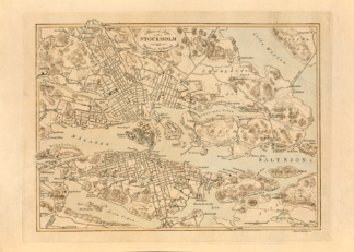 Poster showing Stockholm 1818