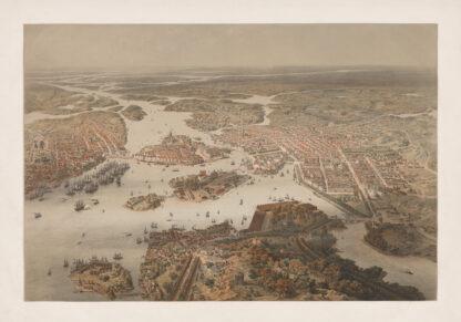 Stockholm birds eye 1868