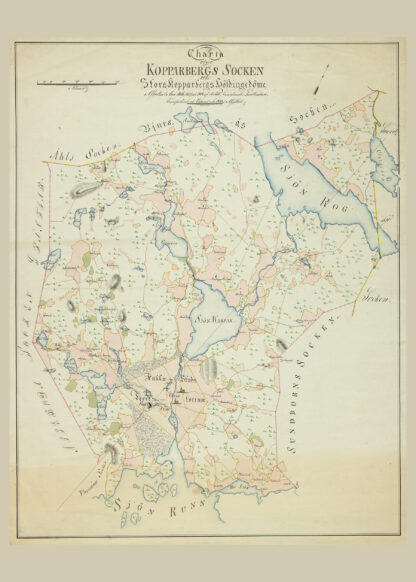 Poster showing Swedish county Kopparberg.