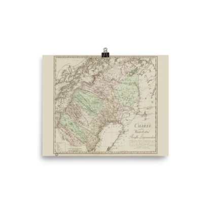 Swedis province Vasterbotten 1796